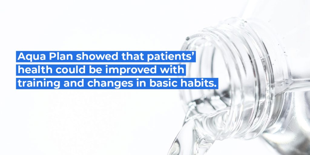 Aqua Plan showed that patients' health could be improved with training and changes in basic habits.